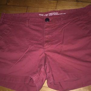 Gap Khaki Skinny Boyfriend Shorts